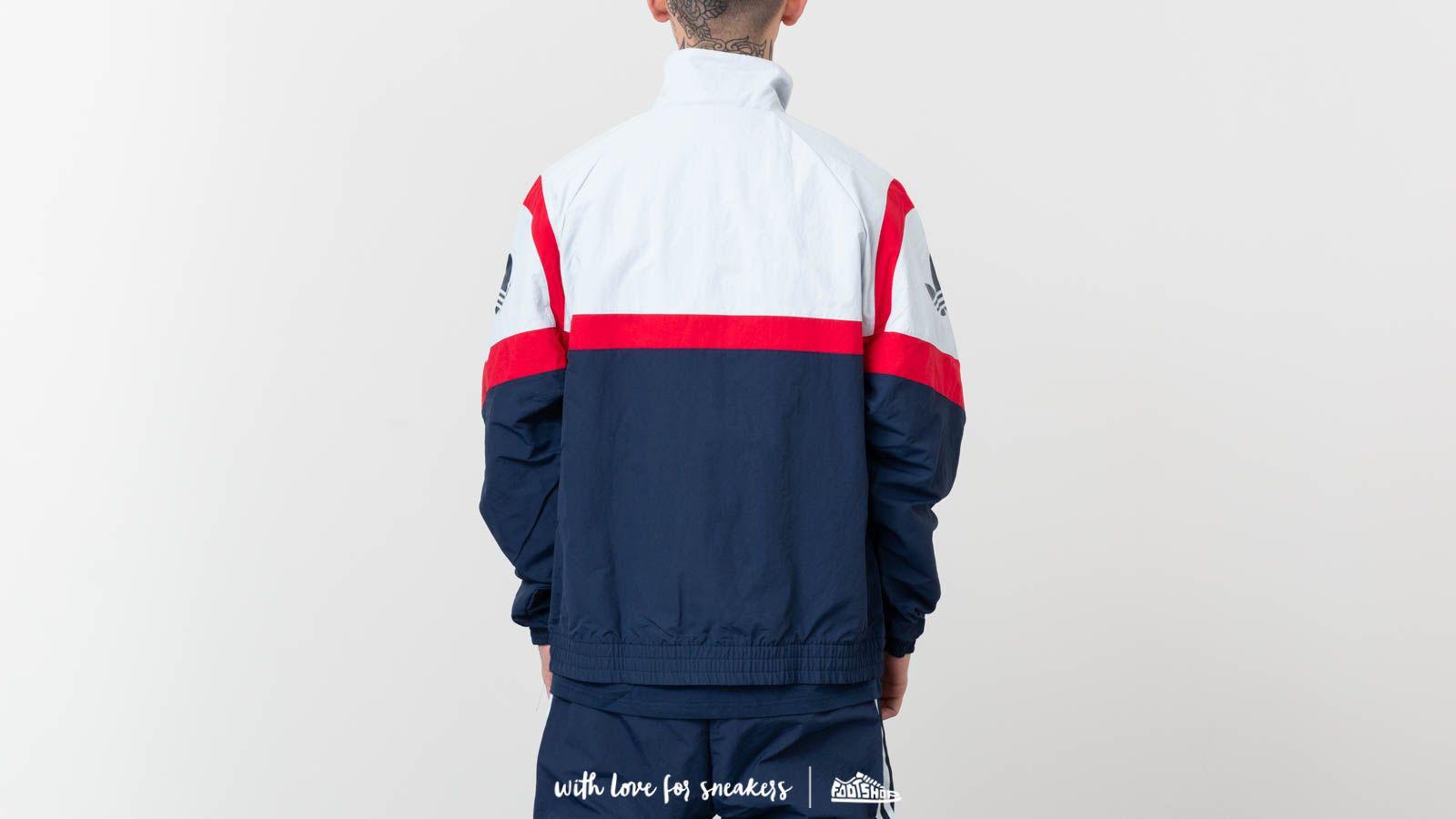 Adidas Originals Sportive Track Top Jacket Light Gray Navy Footshop