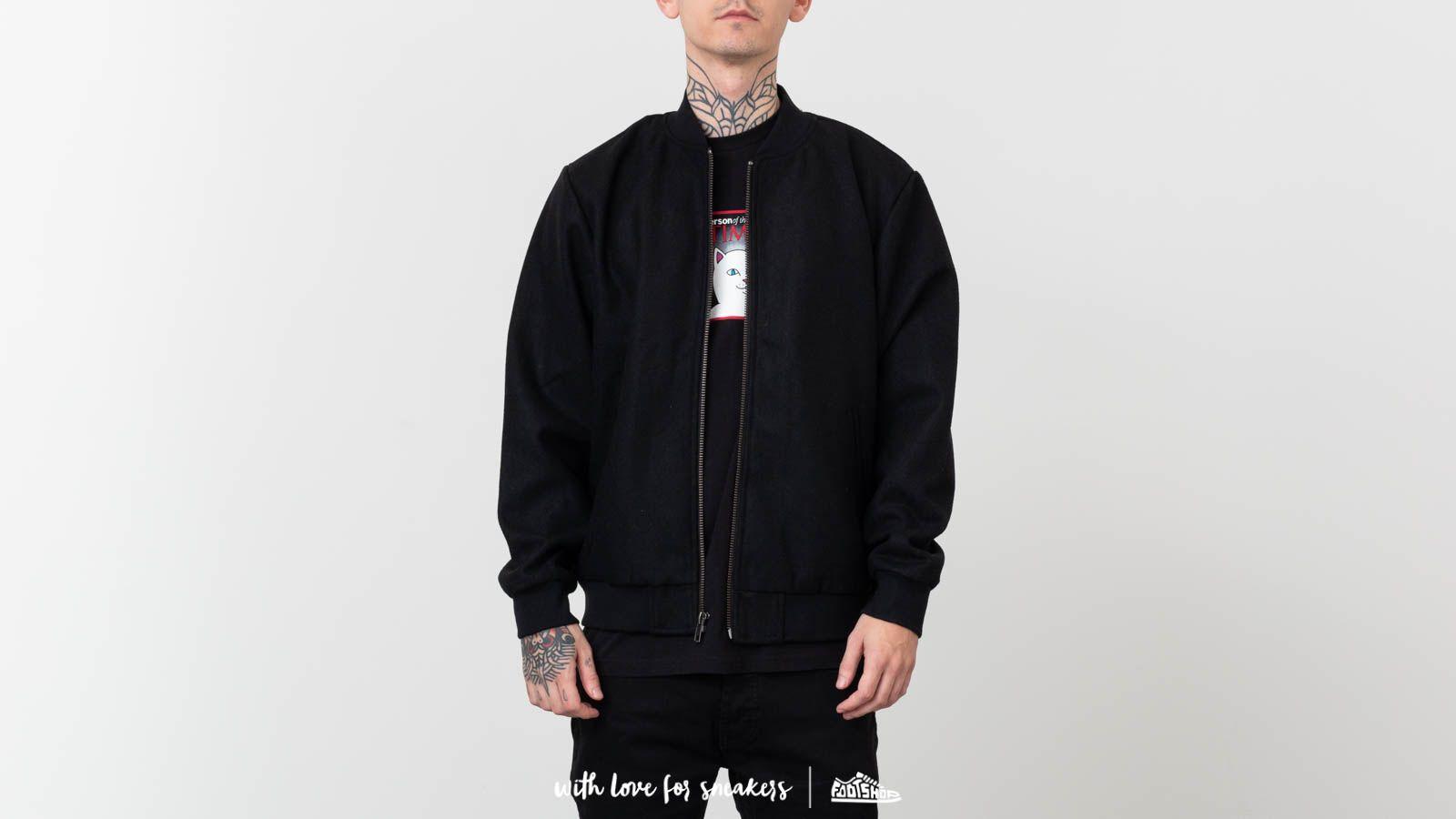 RIPNDIP Wavy Nerm Varsity Jacket Black at a great price 139 € buy at Footshop