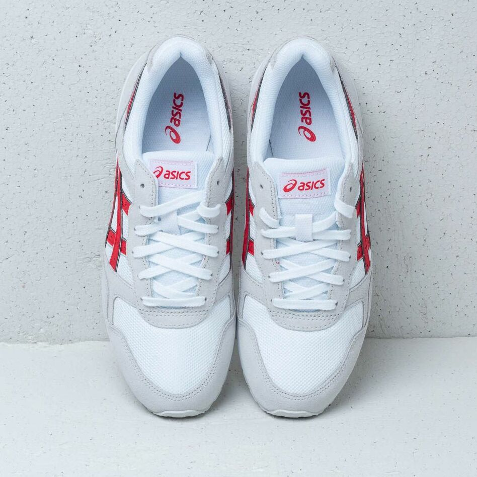 Asics Lyte-Trainer White/ Classic Red, Gray