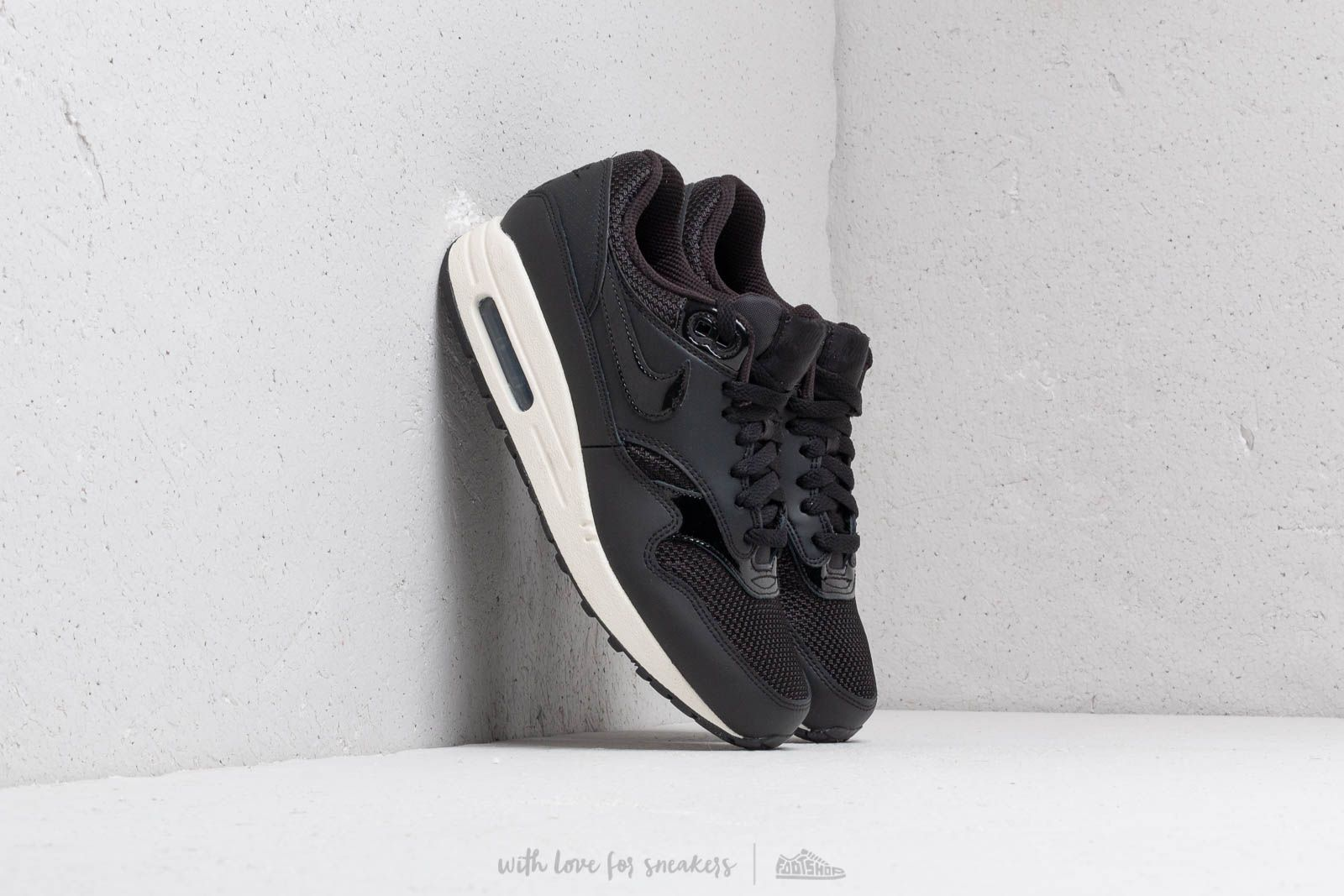 innovative design 90092 b13c4 Nike Wmns Air Max 1 Black  Black-Black-Summit White at a great