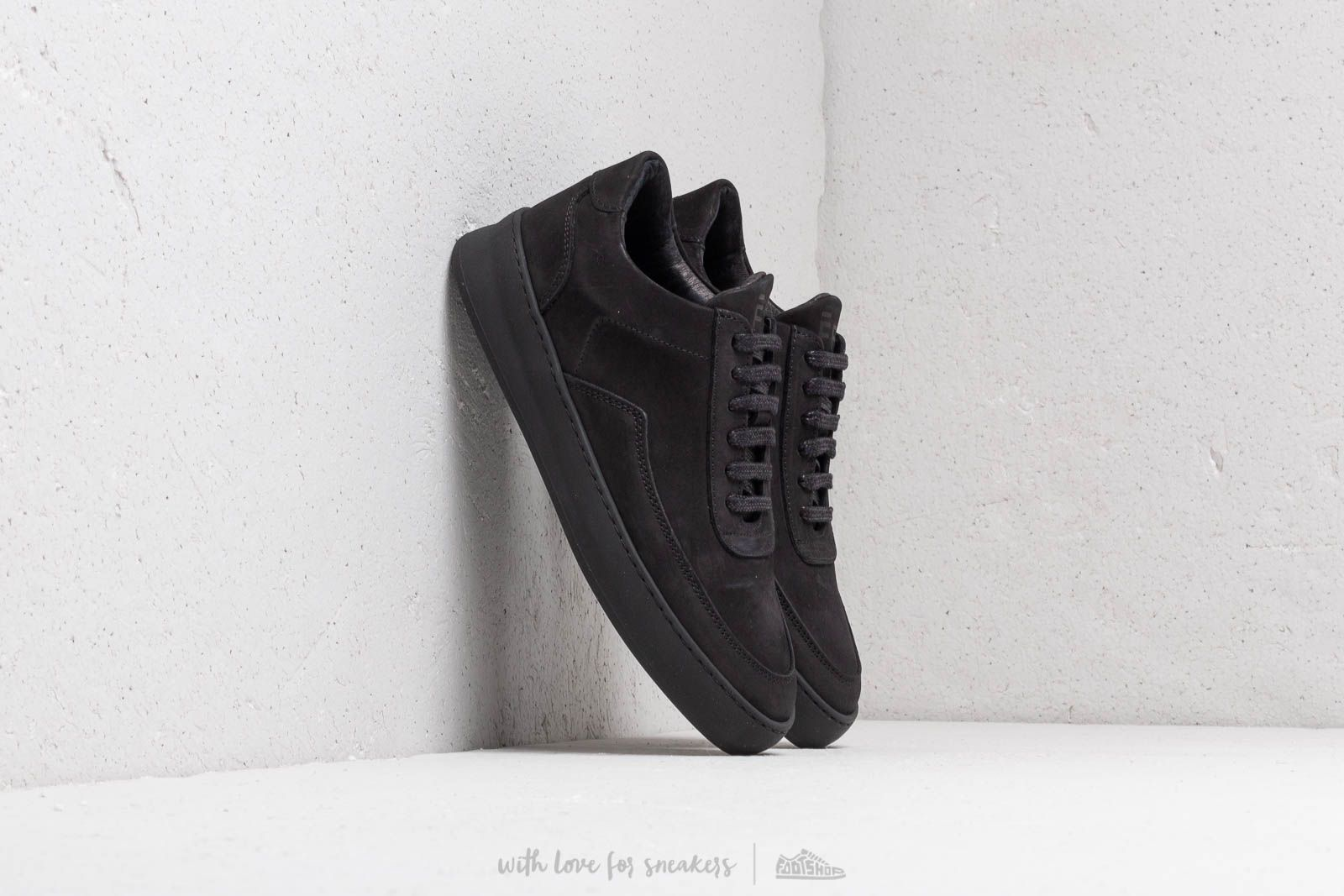 Zapatillas Hombre Filling Pieces Low Mondo Plain Nardo Nubuck All Black