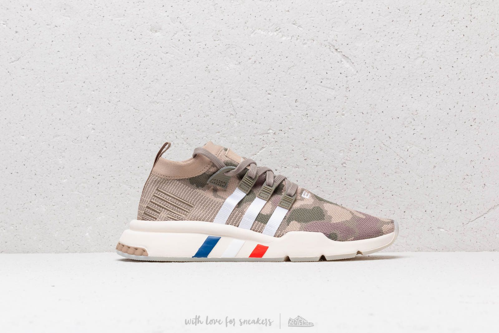 best website 57126 0310c adidas EQT Support Mid ADV Primeknit Trace Khaki Trace Cargo Chalk White  at a
