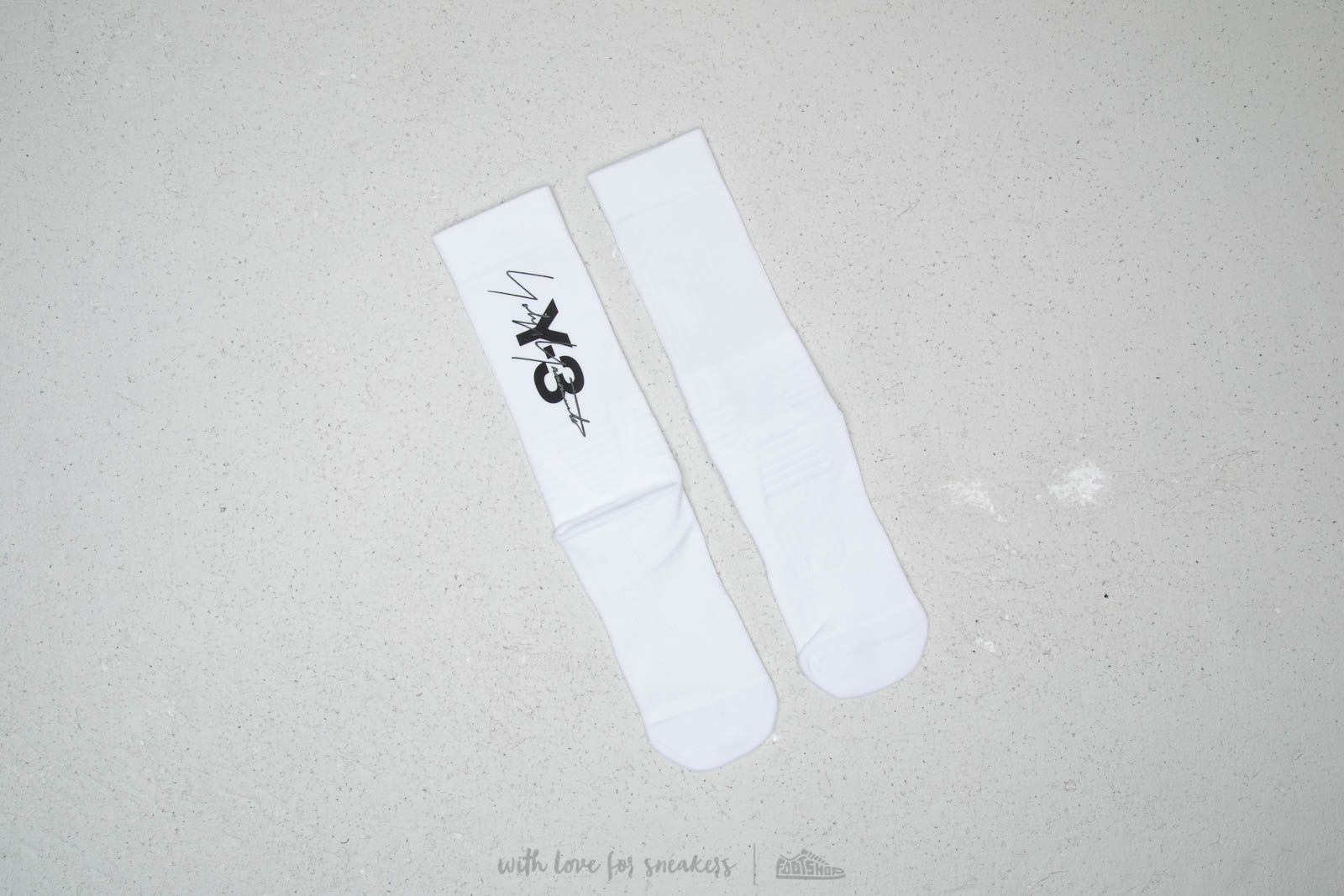 Y-3 Tube Sock White/ Black