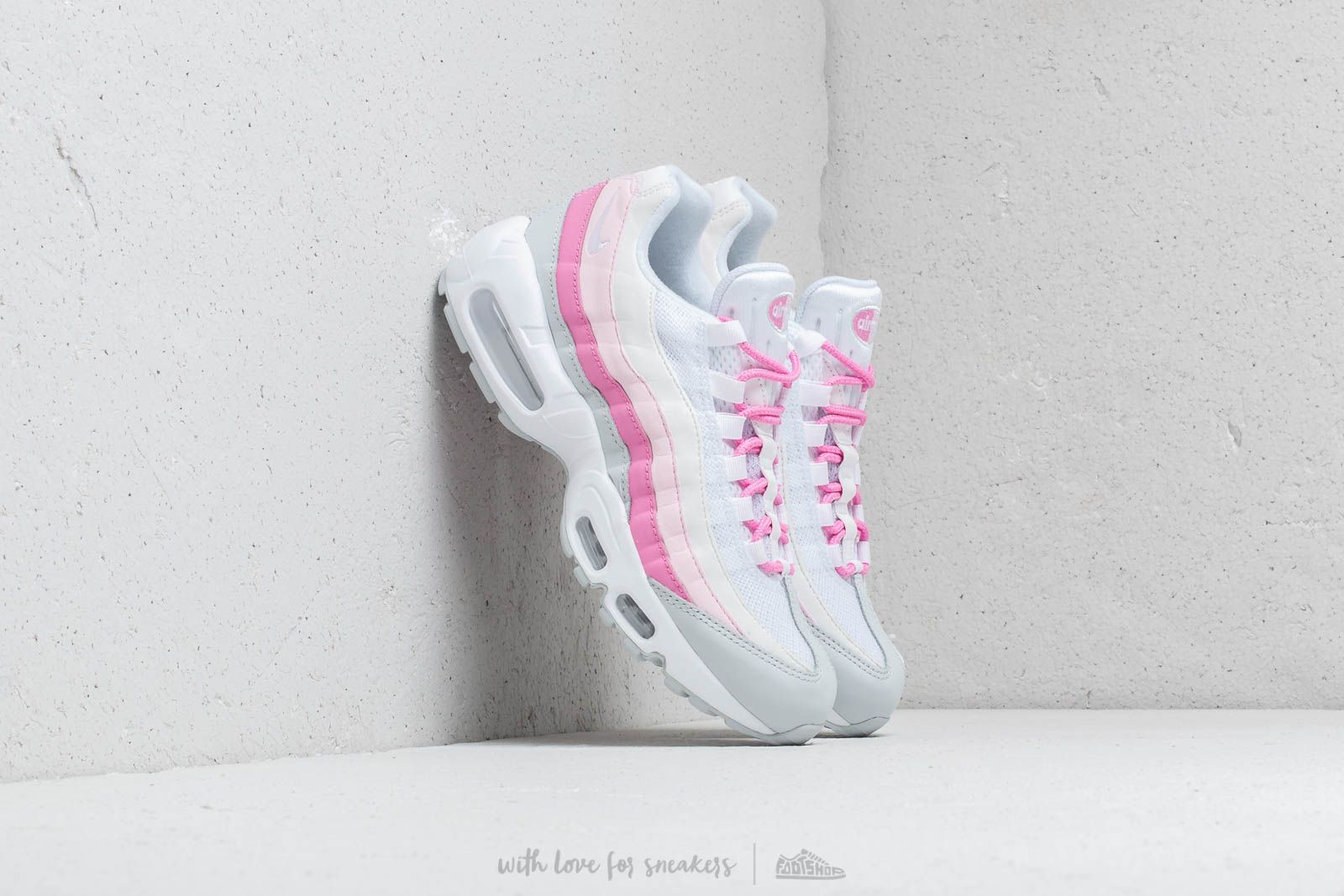Nike W Air Max 95 Essential White White Psychic Pink Pure