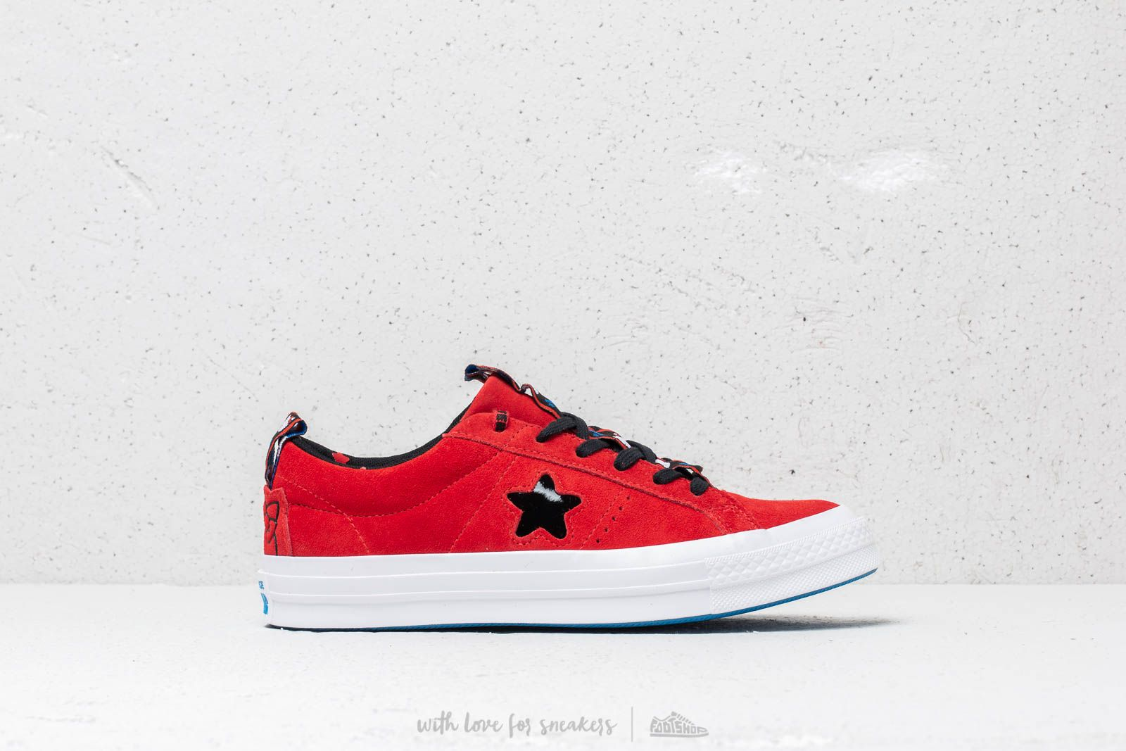 0e5e3bfbdbce Converse x Hello Kitty One Star OX Fiery Red  Black  White at a great