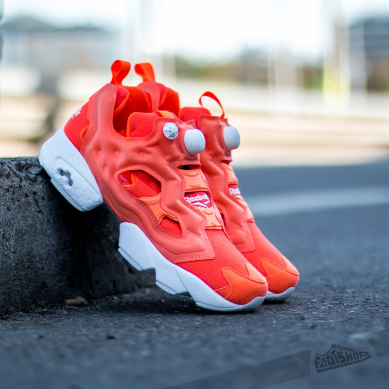 Reebok Instapump Fury Tech Solar Orange White  cabffc07d
