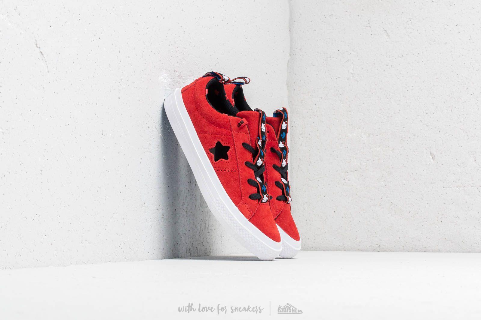 Converse x Hello Kitty One Star X Fire Red/ Black White za skvělou cenu 900 Kč koupíte na Footshop.cz