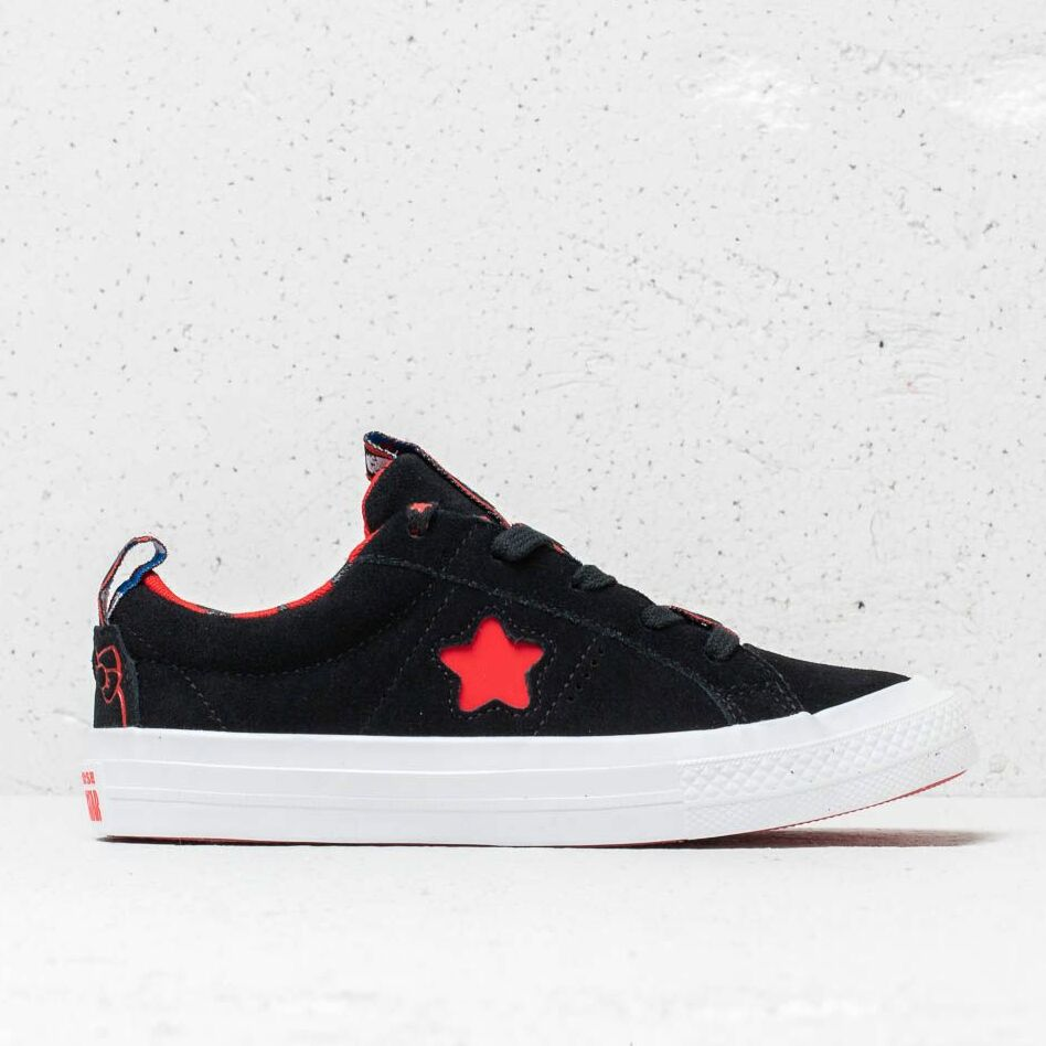 Converse x Hello Kitty One Star OX Black/ Fiery Red/ White, Blue