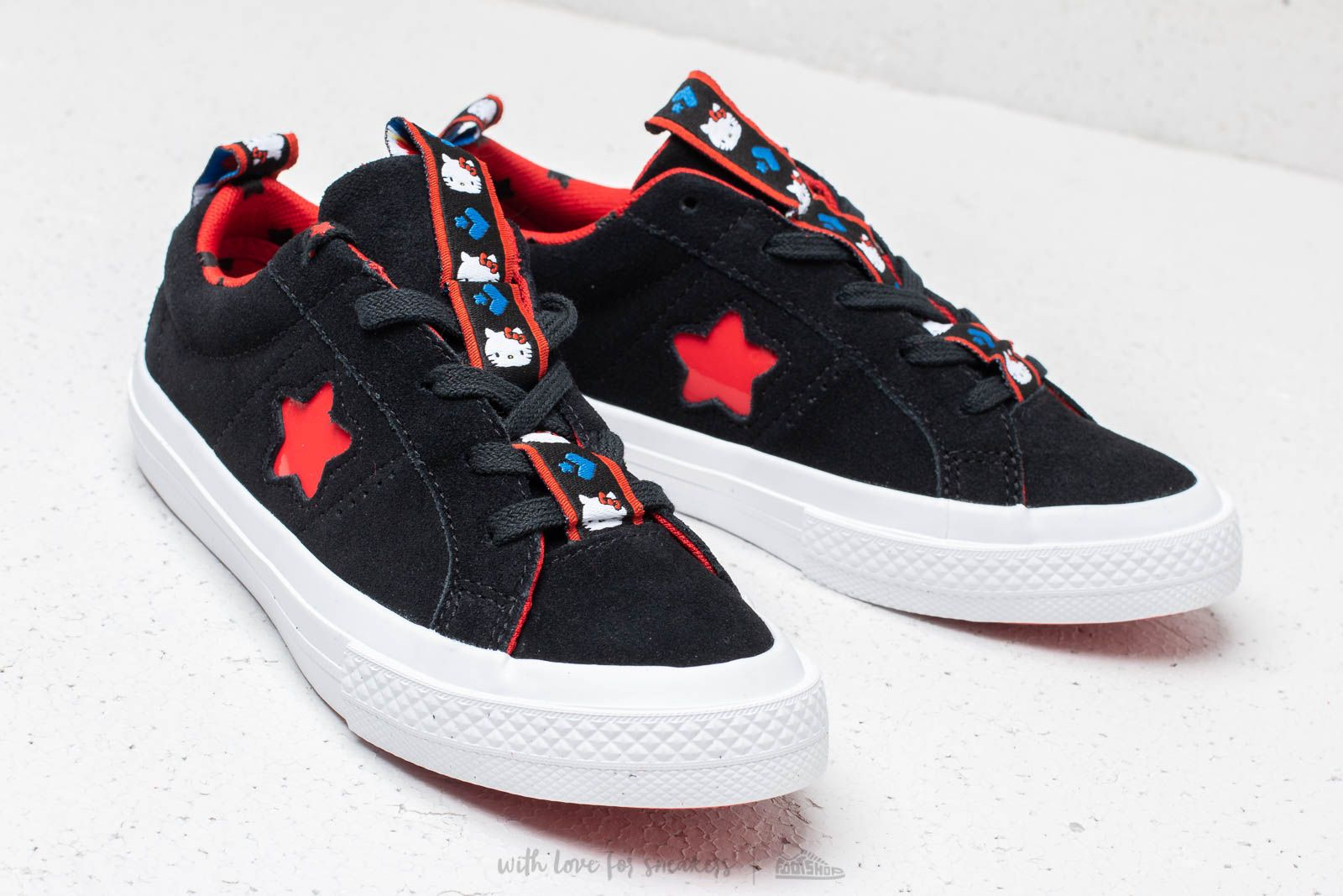 Converse x Hello Kitty One Star OX Black Fiery Red White | Footshop