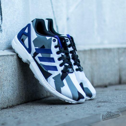 finest selection ff97a f576c adidas ZX FLUX White/Purple/Black | Footshop