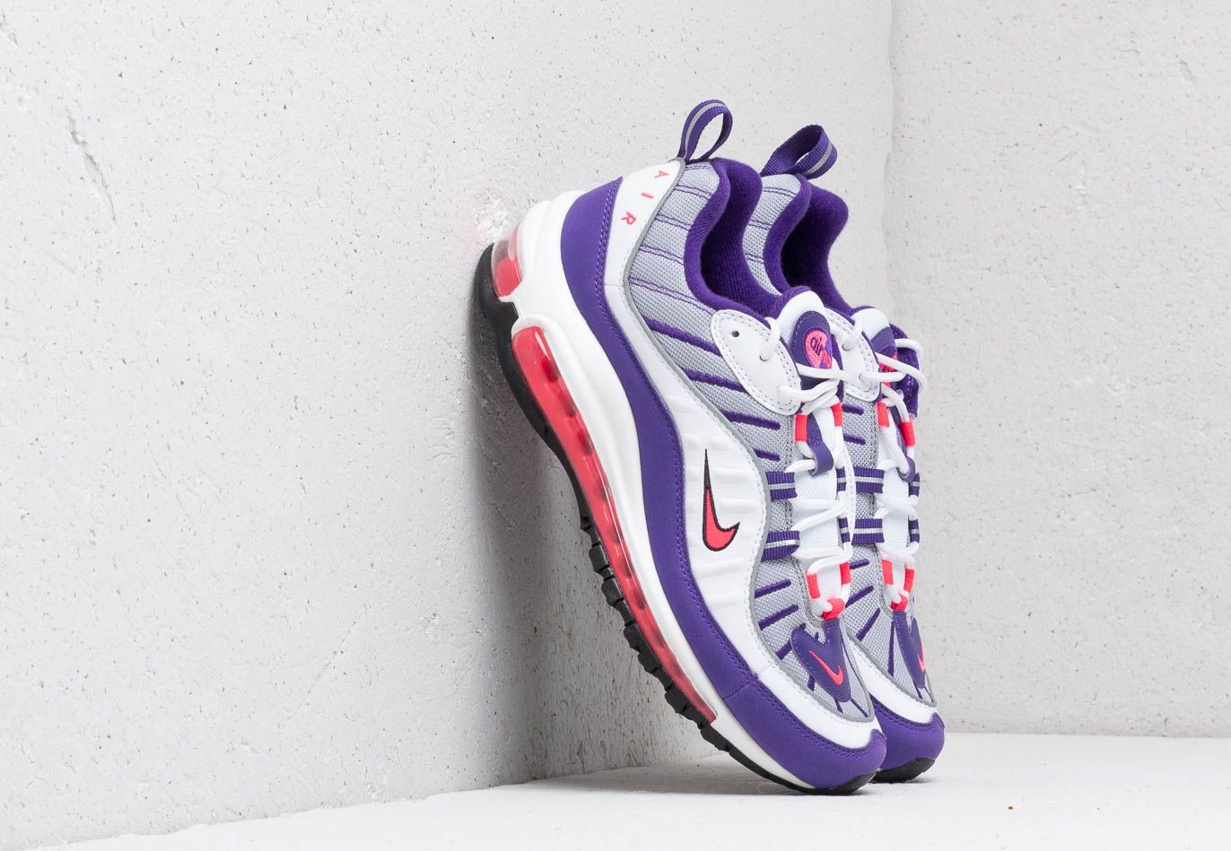 Nike W Air Max 98 White/ Racer Pink-Reflect Silver-Black EUR 38.5