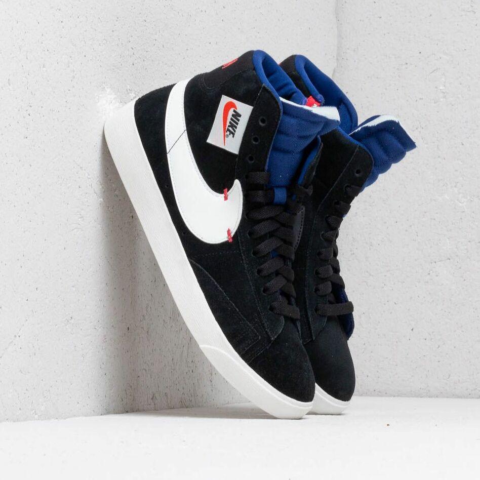 Nike Blazer Mid Rebel Wmns Black/ Summit White-Deep Royal Blue EUR 35.5 Nike