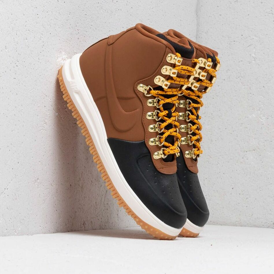 Nike Lunar Force 1 Duckboot '18 Black/ Lt British Tan-Phantom EUR 40