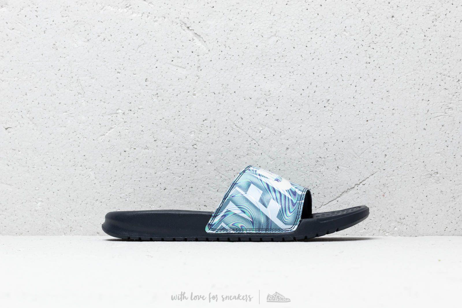 39ff86ba0422 Nike Benassi Jdi Print Obsidian/ Summit White nagyszerű árakon 9 951 Ft  vásárolj a Footshopban