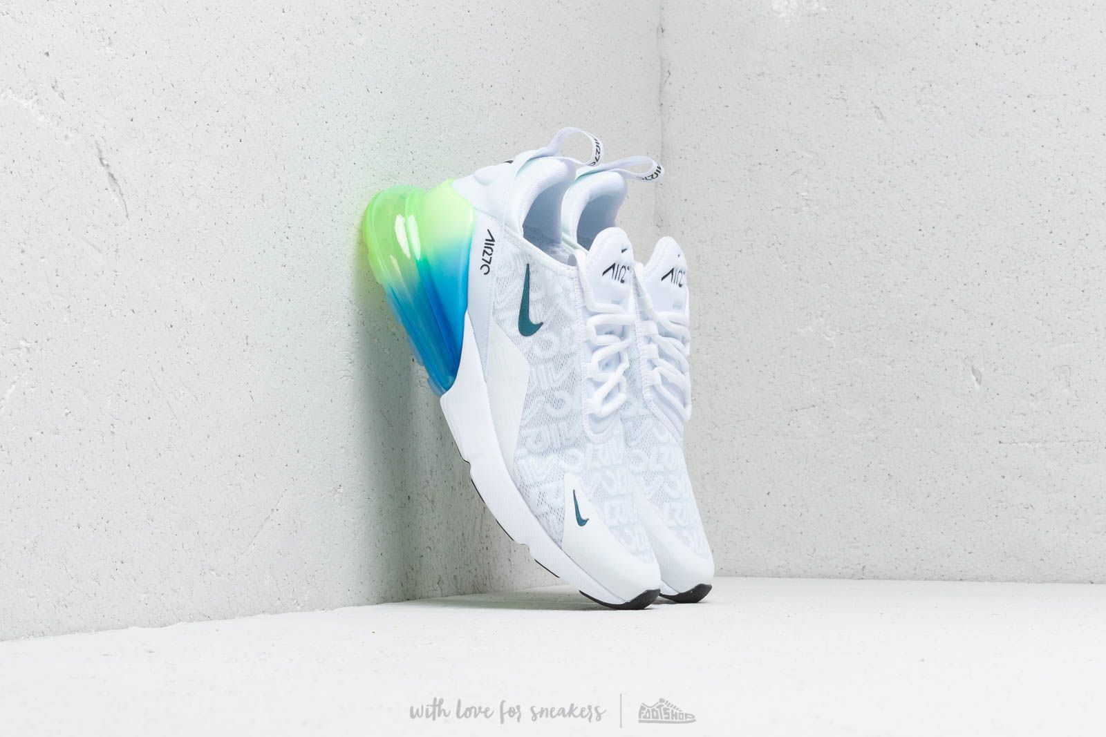 the latest 6bcc9 bbd23 Nike Air Max 270 Se. White  White-Lime Blast-Photo Blue