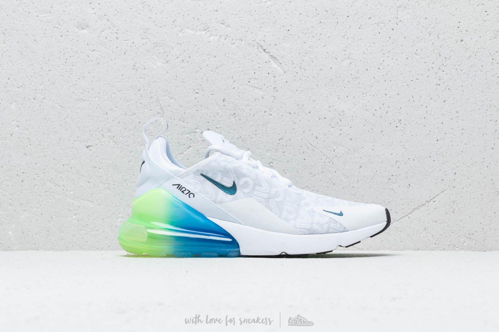 Nike Air Max 270 Se White White Lime Blast Photo Blue