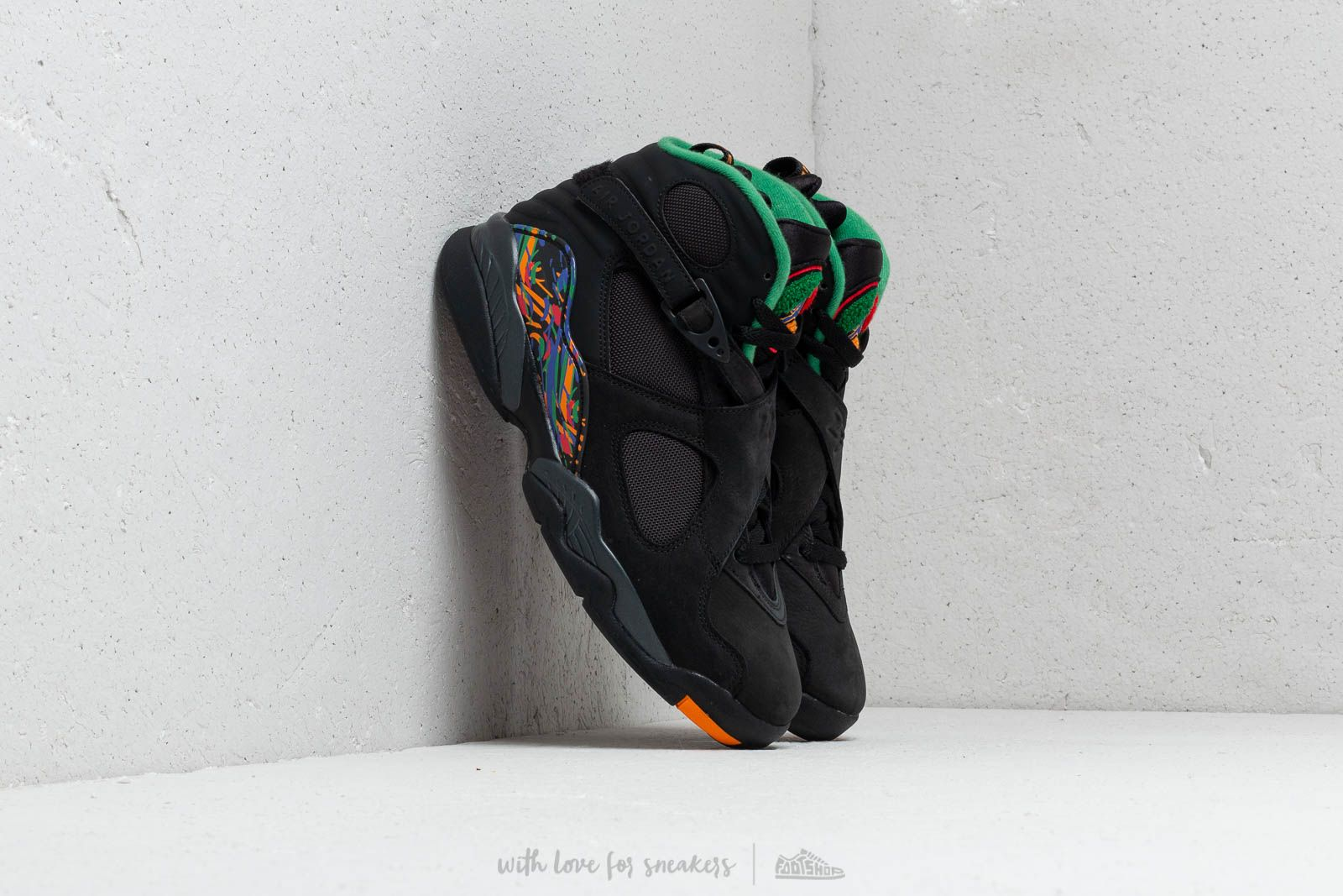 597ccfd50b3 Air Jordan 8 Retro Tinker Air Raid Black/ Light Concord/ Aloe Verde ...