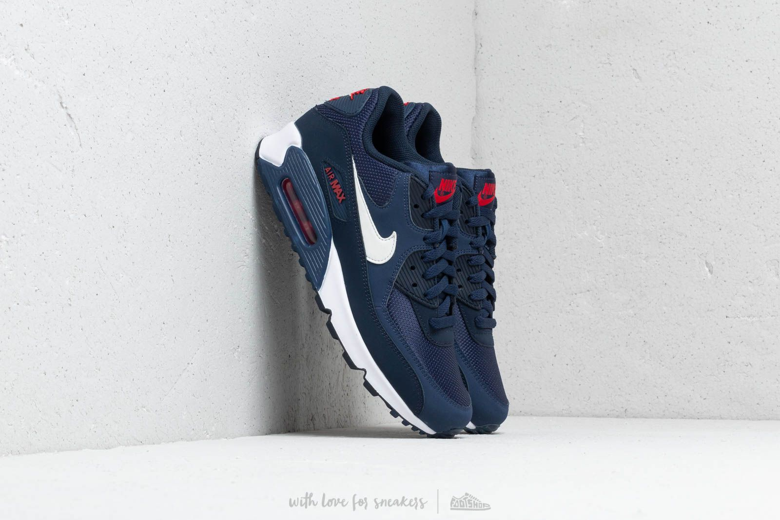 Nike Air Max 90 Essential Midnight Navy University Red White