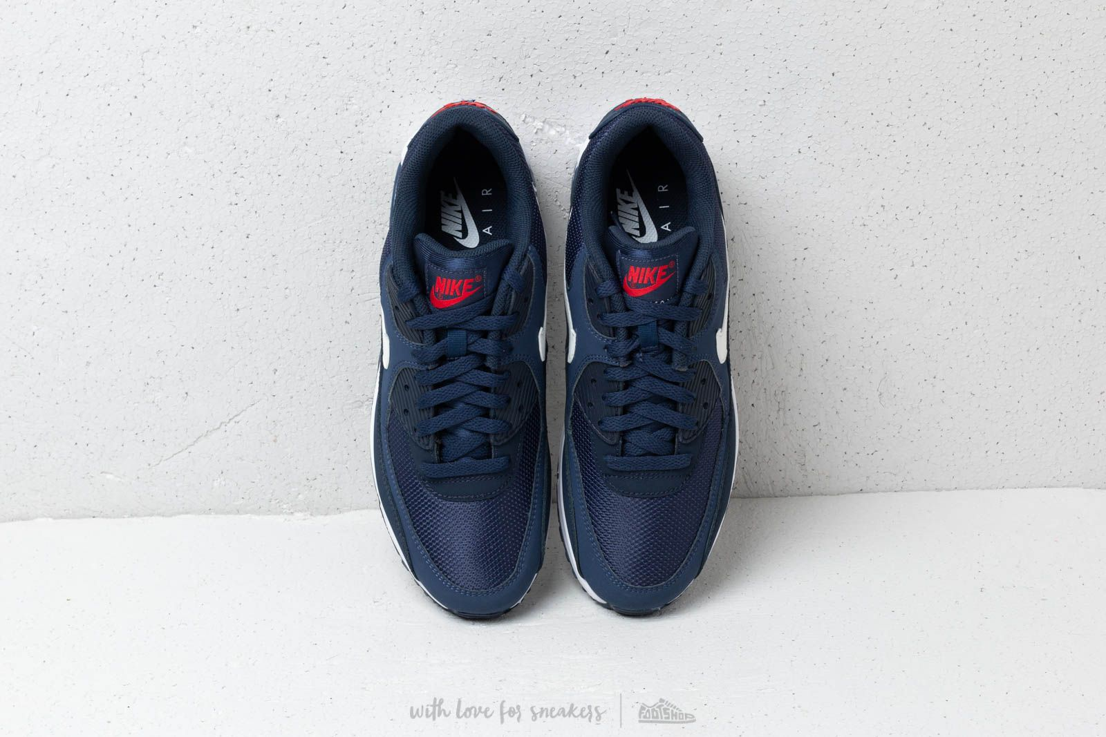 Nike Air Max 90 Essential Midnight Navy White University Red | Footshop