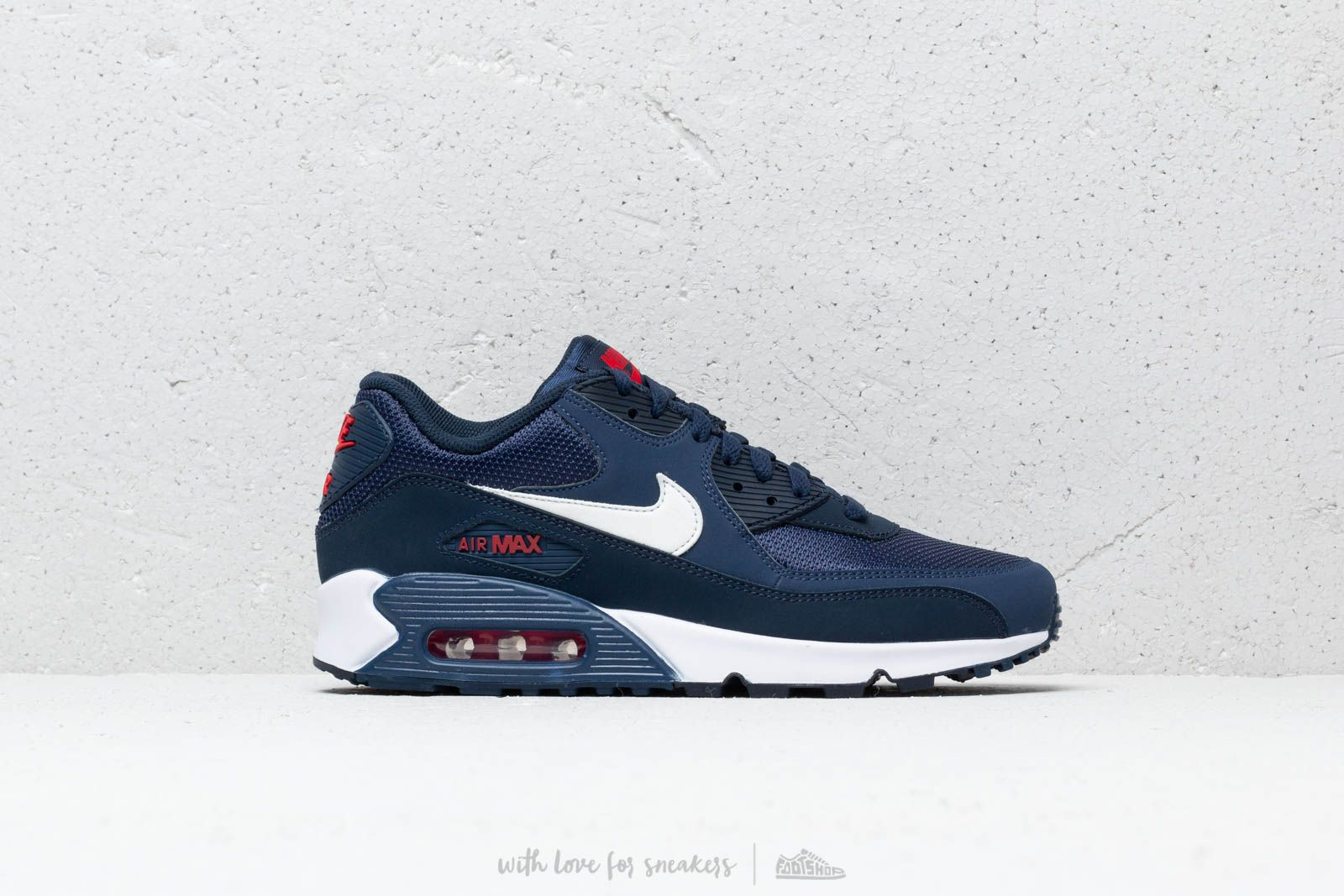 03e734ec99 Nike Air Max 90 Essential Midnight Navy  White-University Red at a great  price