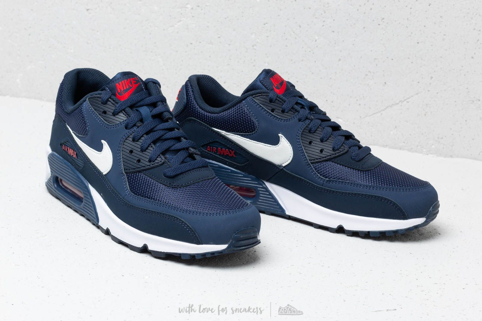 Nike Air Max 90 Essential Midnight Navy  White-University Red at a great  price 5523d2eef