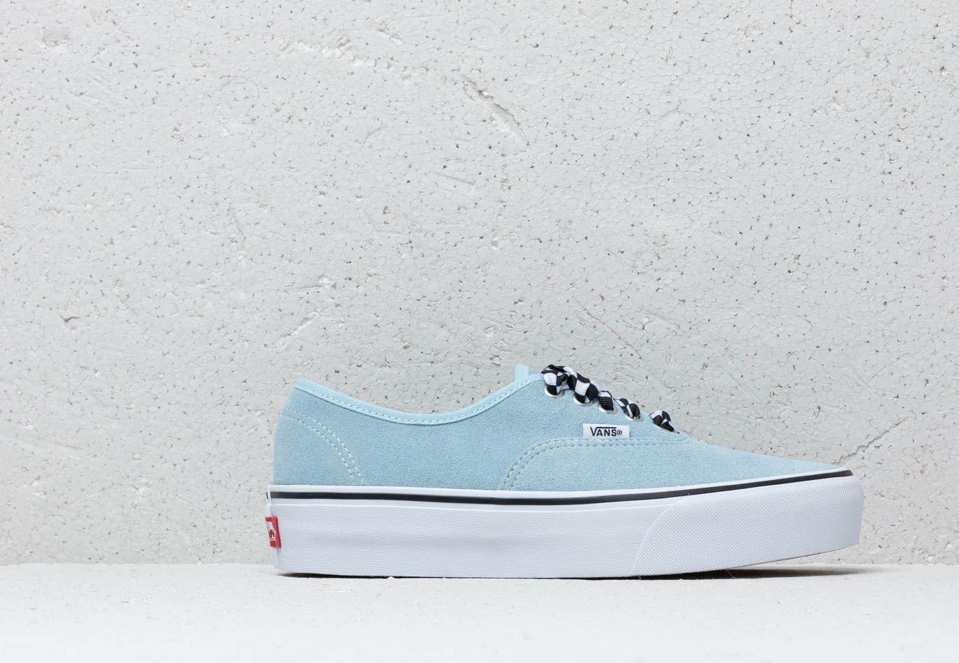 Vans Authentic Platform (Checkerboard lace) Cool Blue