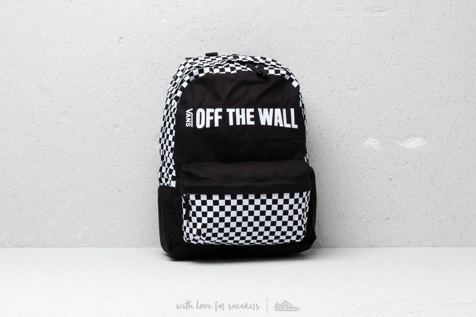 4be73f9b72022 Vans Central Realm Backpack Black  White