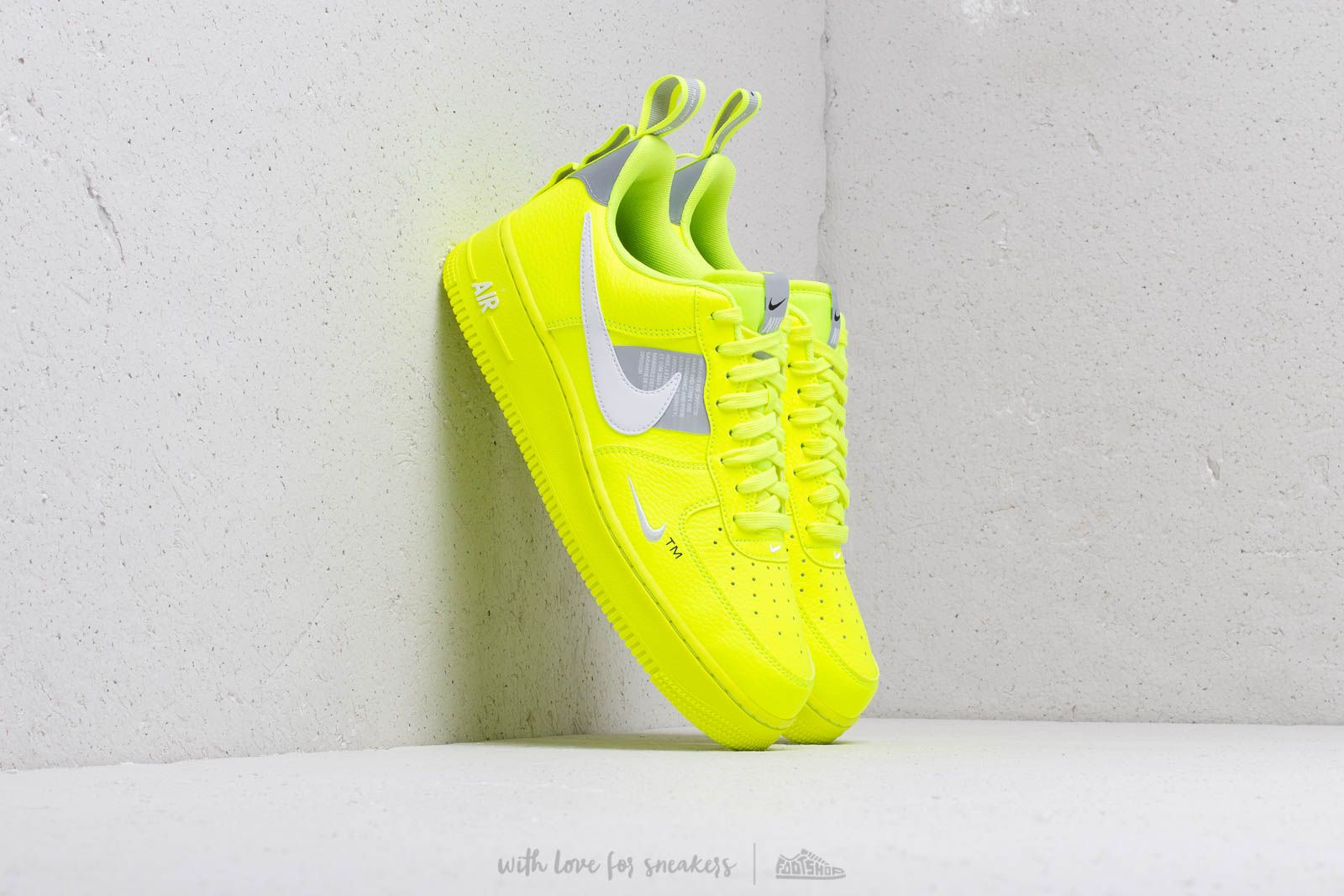 Nike Air Force 1 '07 Lv8 Utility Volt/ White- Black- Wolf Grey