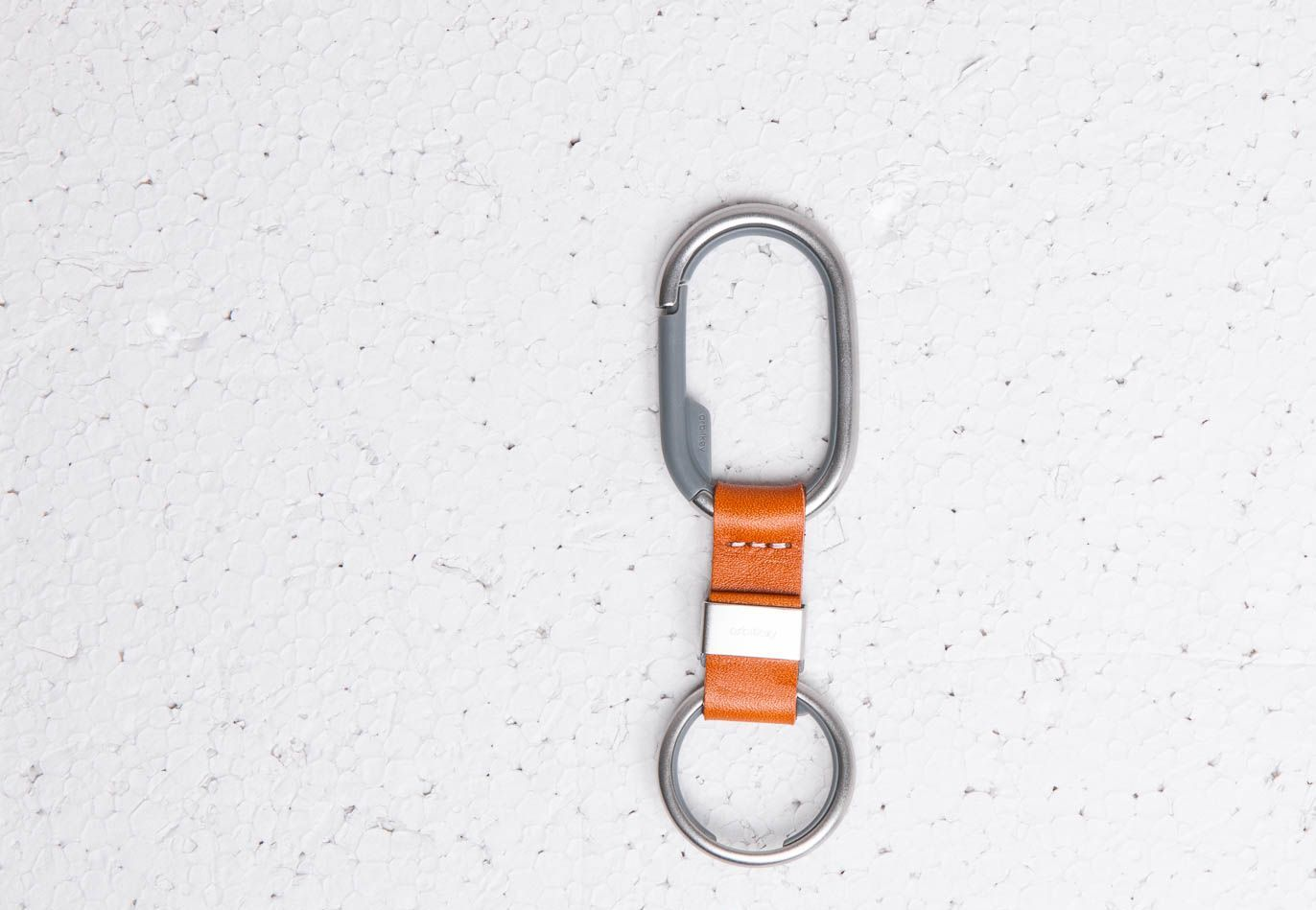Orbitkey Clip Tan White Stitching