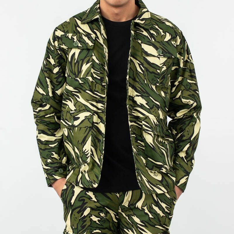 RIPNDIP Tiger Nerm Ripstop Work Jacket Green Camo