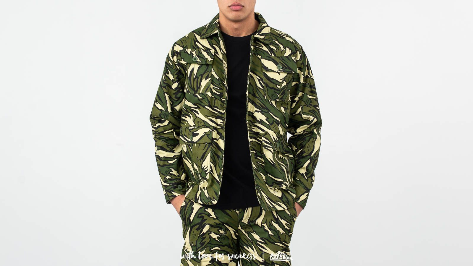 Μπουφάν RIPNDIP Tiger Nerm Ripstop Work Jacket Green Camo