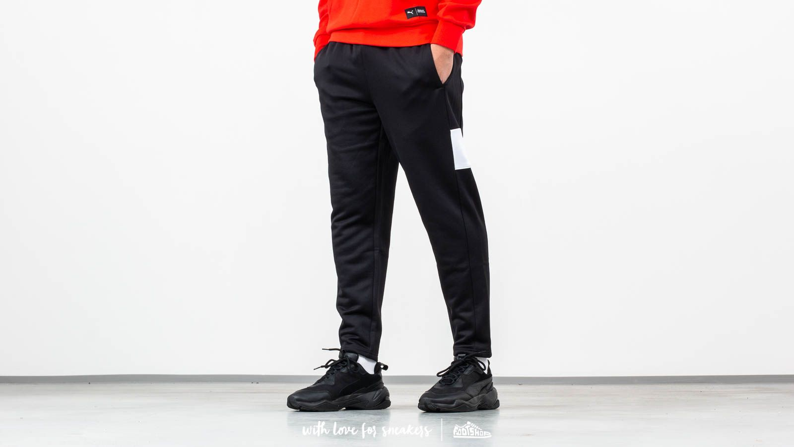 Džíny a kalhoty Puma Homage to Archive Crop Pants Black