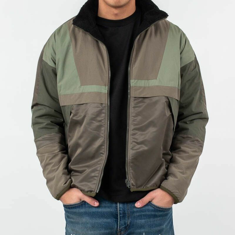 John Elliott Reversible Sail Jacket Olive