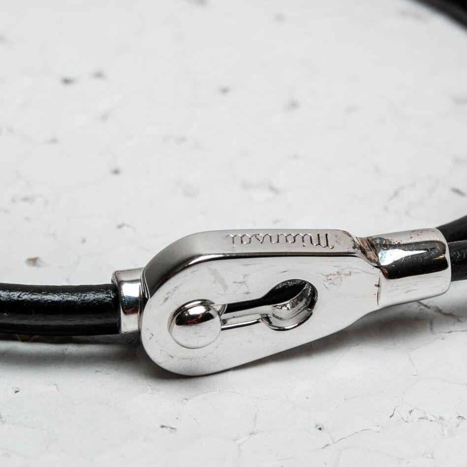 Miansai Centra Leather Wrap Bracelet Silver, Brown