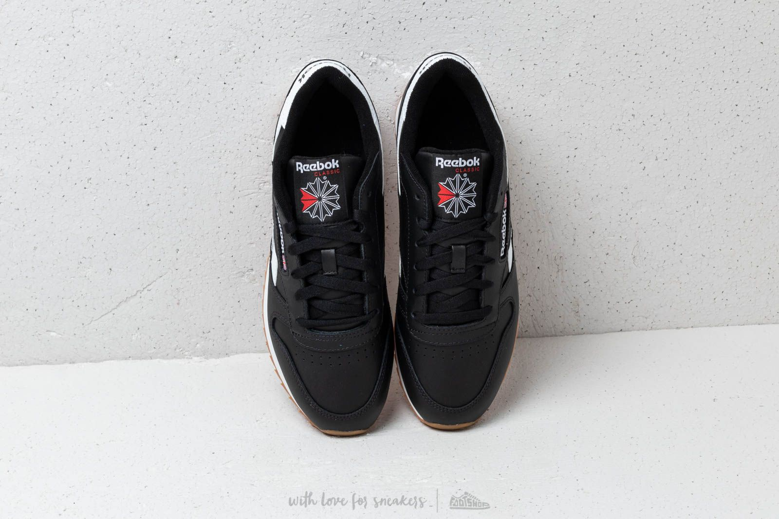 2901e1031a298f Reebok Classic Leather Double Black  White  Primal Red at a great price   125 buy