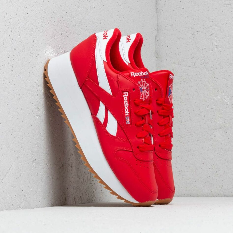 Reebok Classic Leather Double W Primal Red/ White/ Cobalt EUR 38
