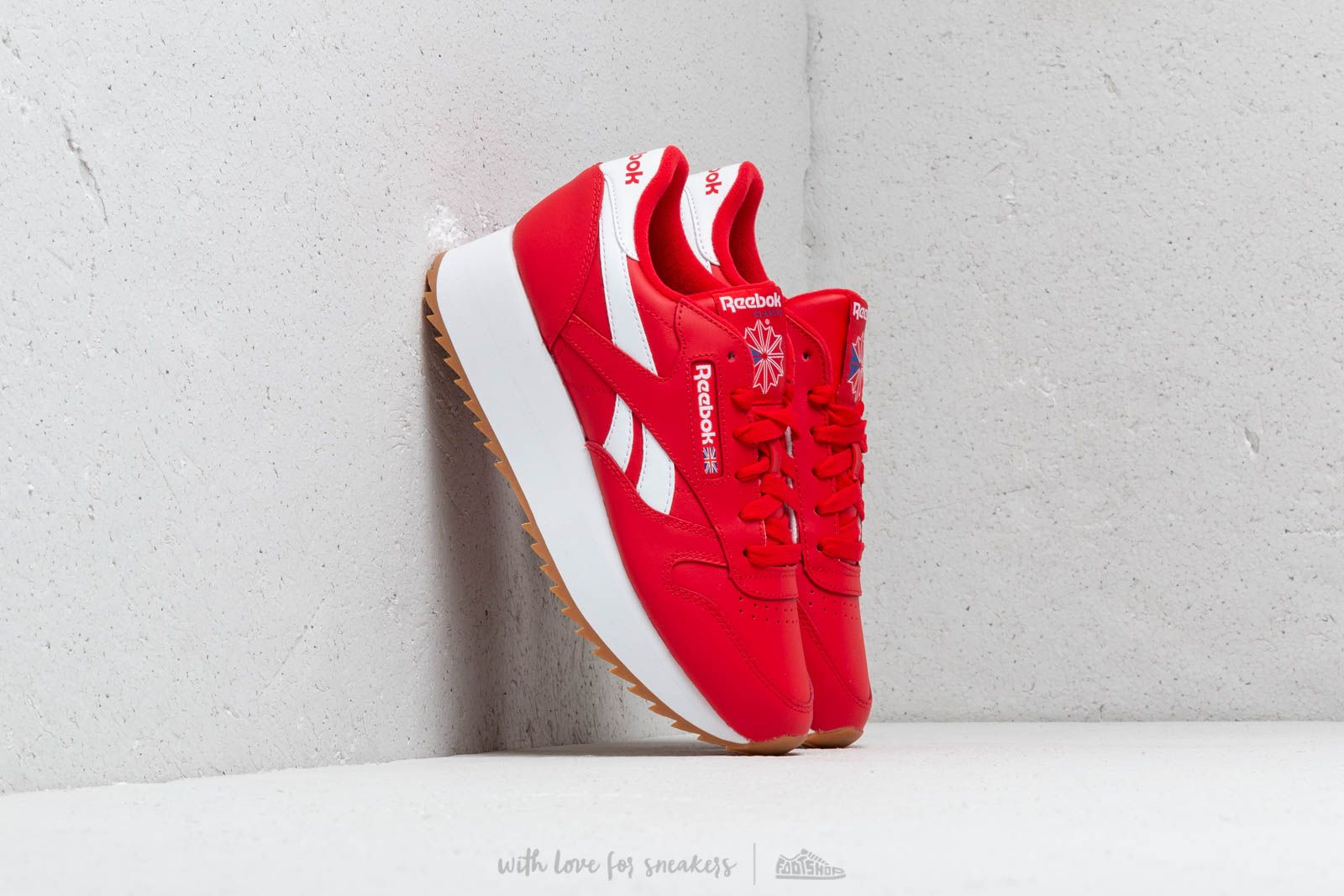 Reebok Classic Leather Double W Primal Red  White  Cobalt at a great price £ ee53fc863