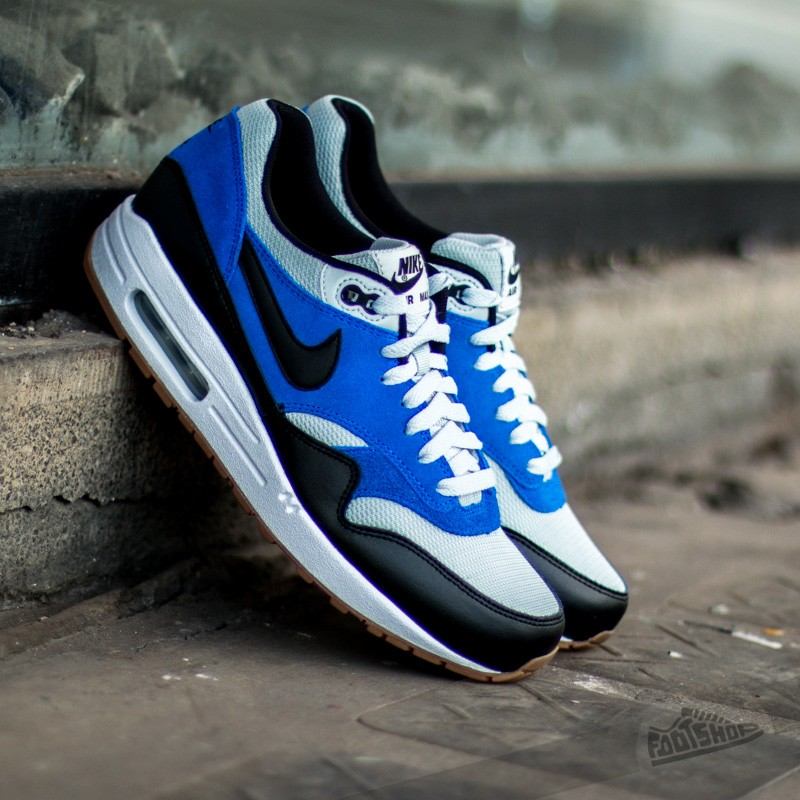 the best attitude a1016 fef66 Nike Air Max 1 Essential Grey MistBlack-Lyon Blue