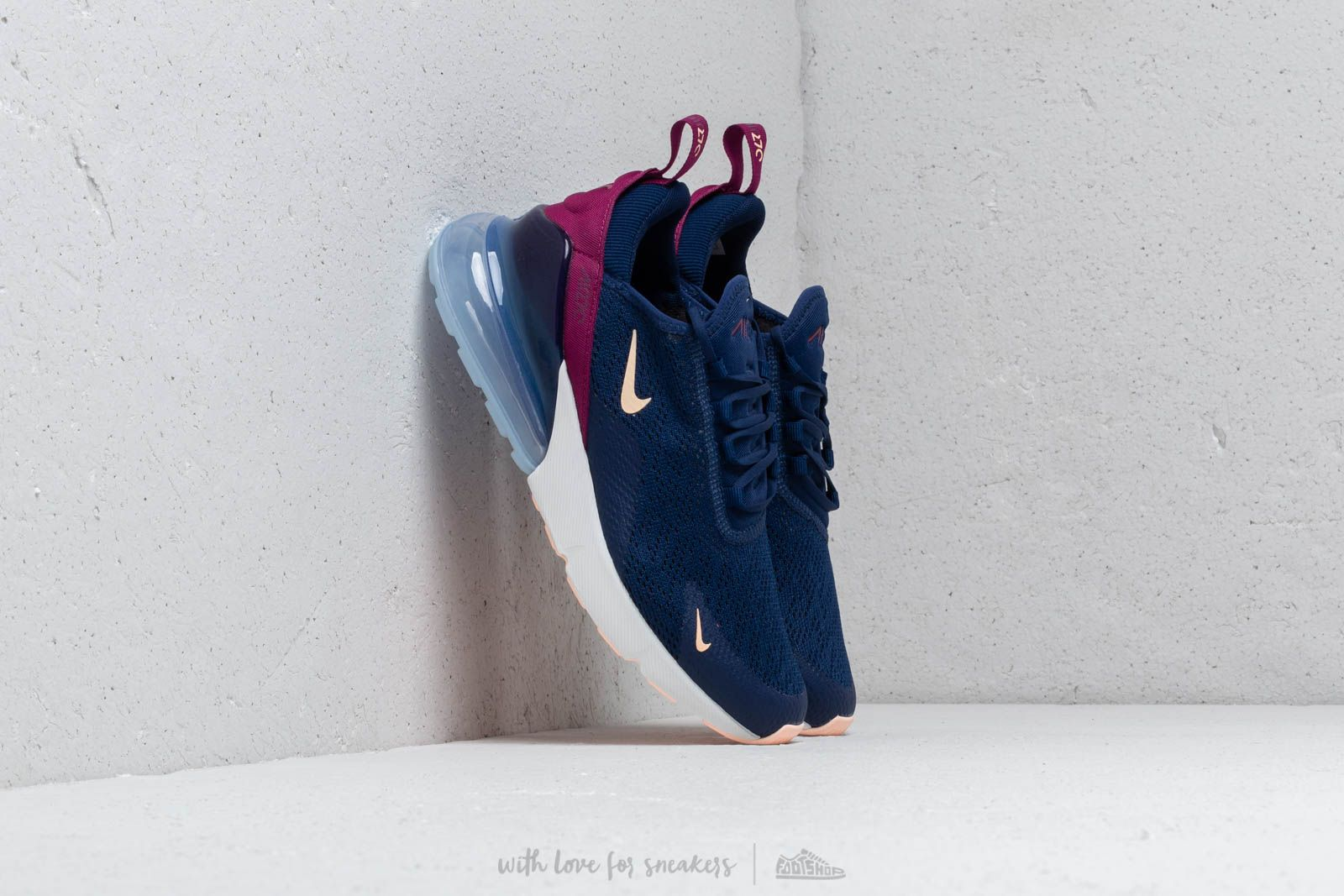 Nike W Air Max 270 Blue Void/ Crimson Tint-True Berry W super cenie 642 zł kupuj na Footshop.pl
