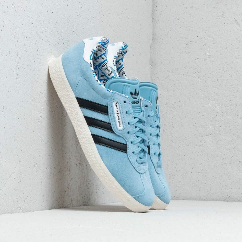 adidas x have a good time Gazelle Super Clear Blue/ Core Black/ Core White EUR 47 1/3