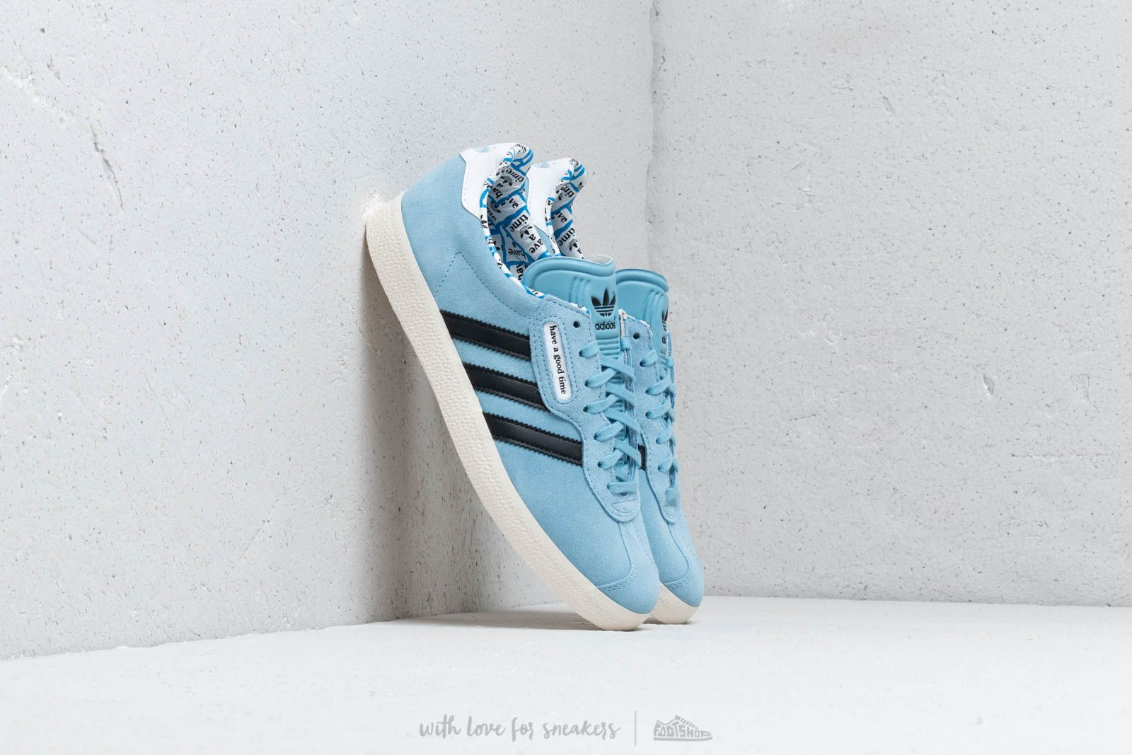 Men's shoes adidas x have a good time Gazelle Super Clear Blue/ Core Black/ Core White