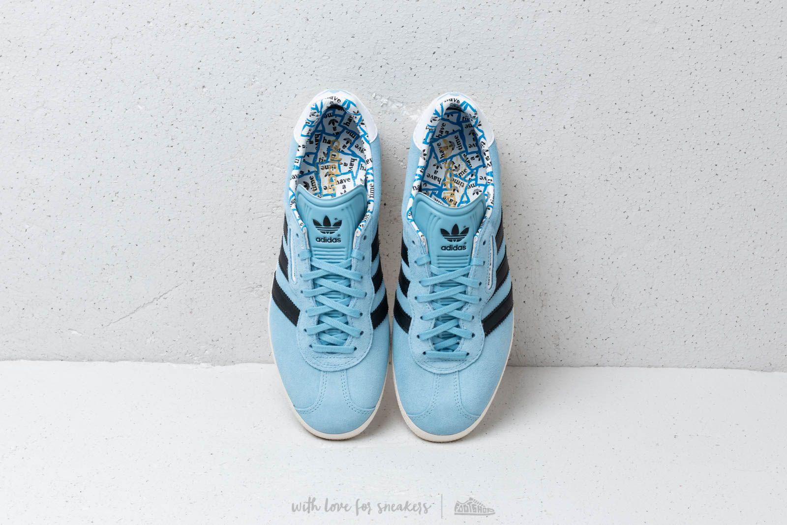 adidas x have a good time Gazelle Super Clear Blue  Core Black  Core White 0215113357a5