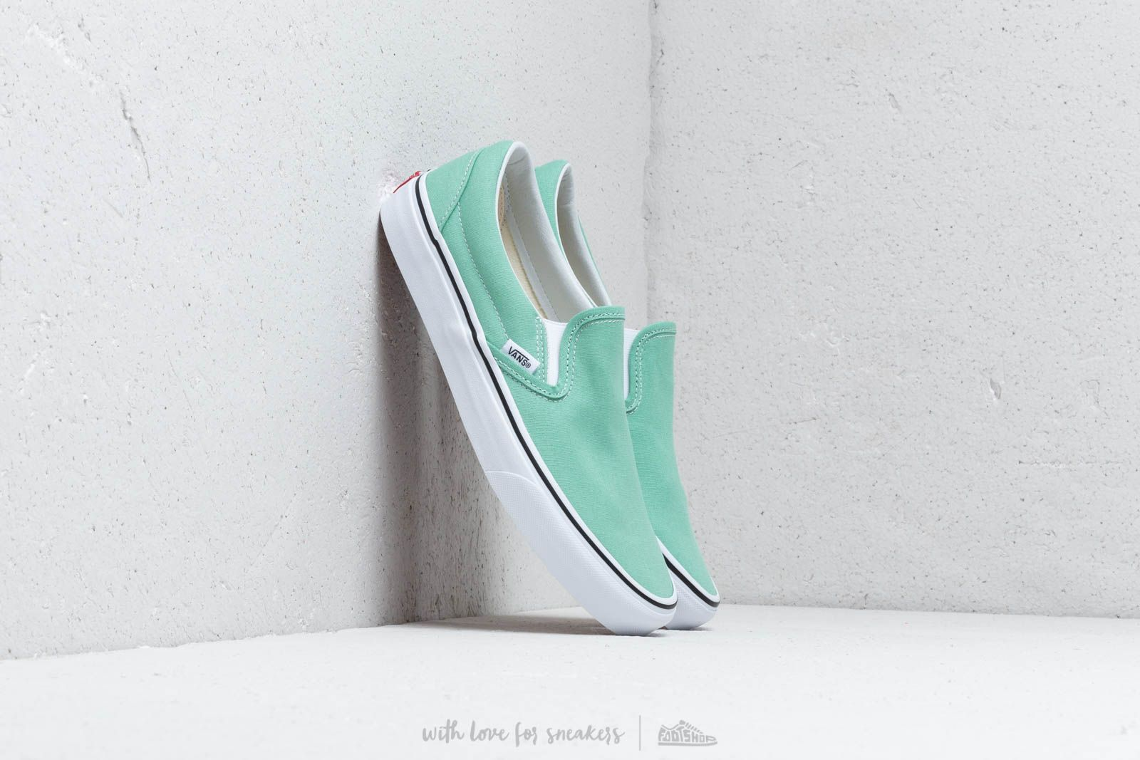 Herenschoenen Vans Classic Slip-On Neptune Green/ True White