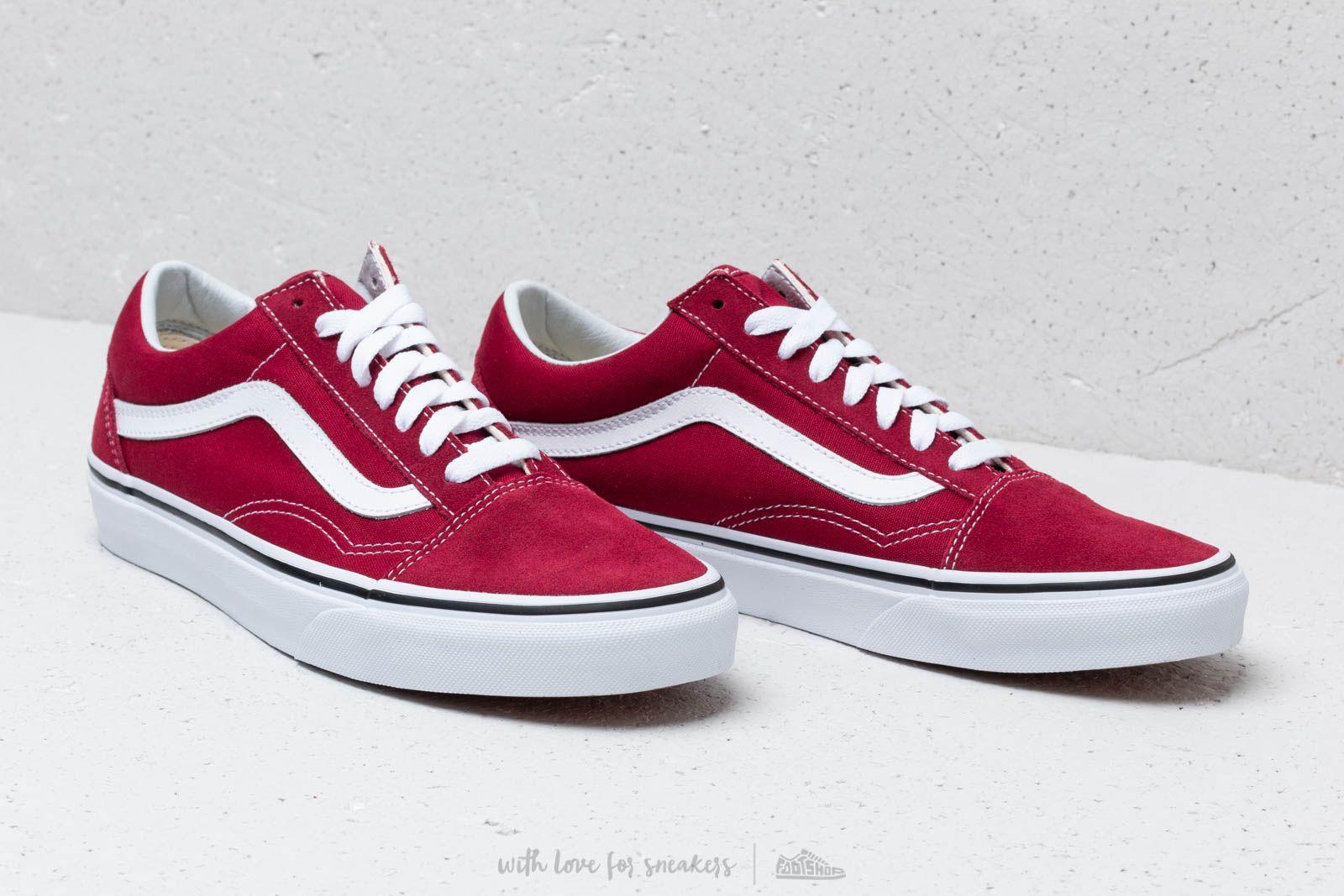 0409ef8c80a8f Footshop Rumba True Old Skool White Red Vans RTHFnqg