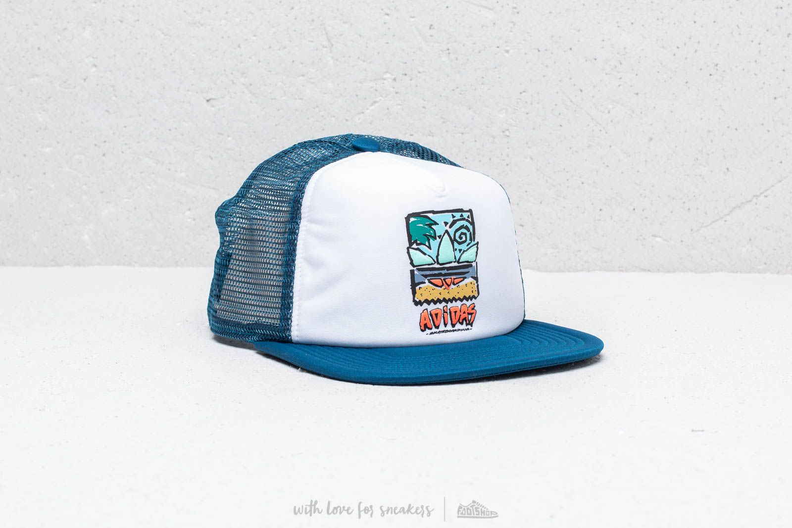 adidas BB83 Trucker White/ Legend Marine