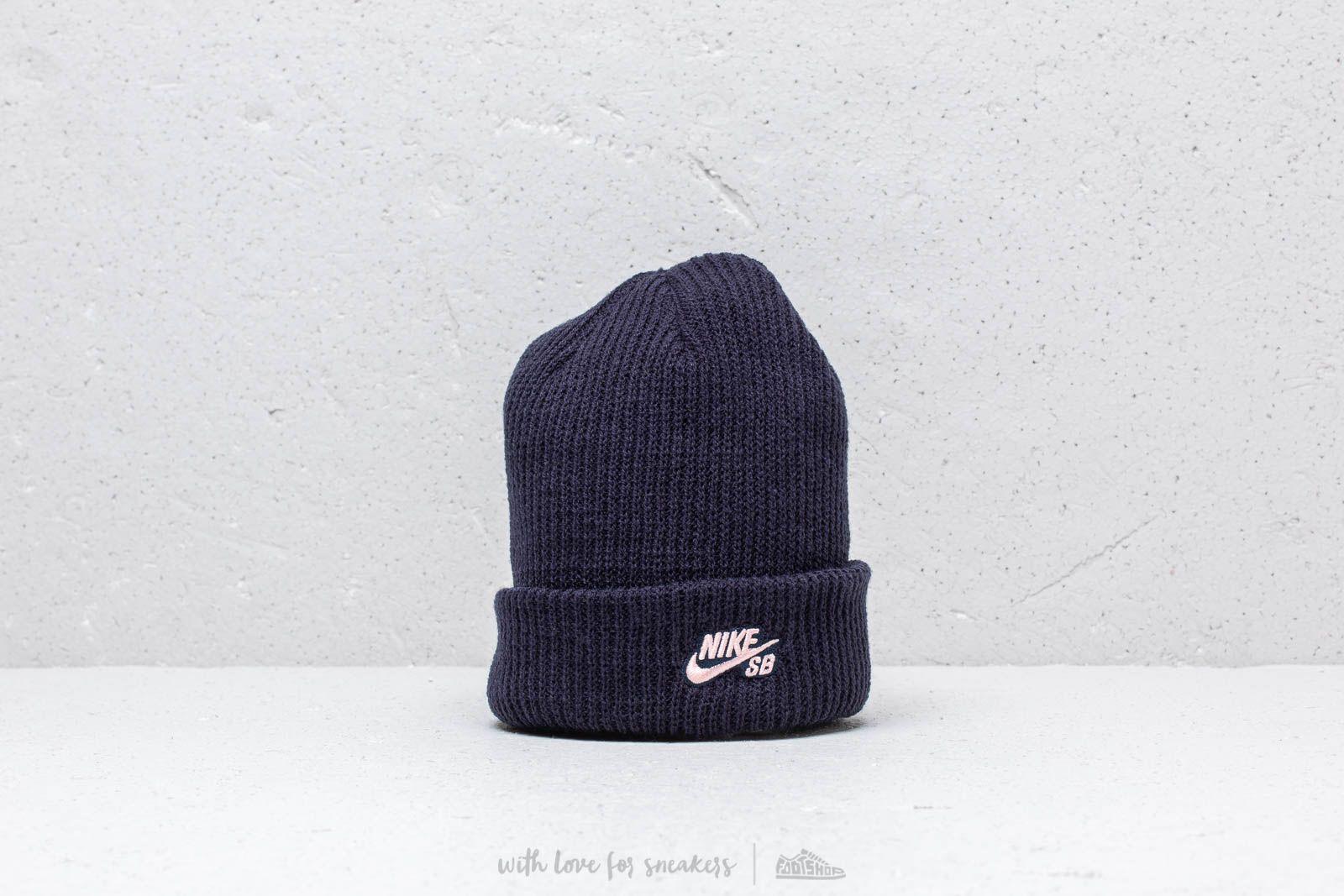 reputable site 99db5 a383d Nike SB Fisherman Knit Hat. Obsidian  Storm Pink