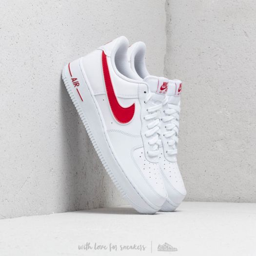 Nike Air Force 1 '07 3 White/ Gym Red | Footshop