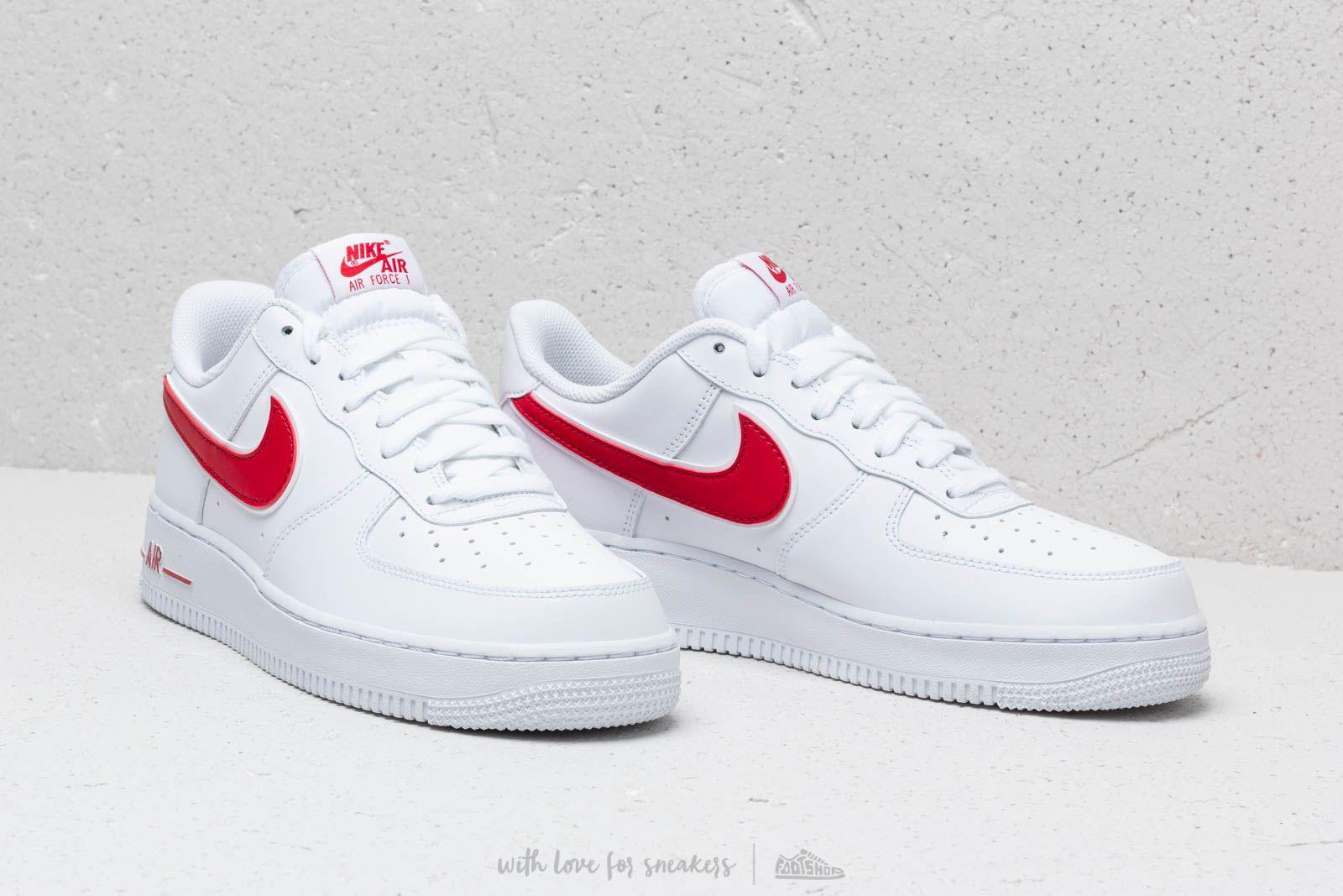 Nike Air Force 1 07 SE W Schuhe Weiß Rot für Damen