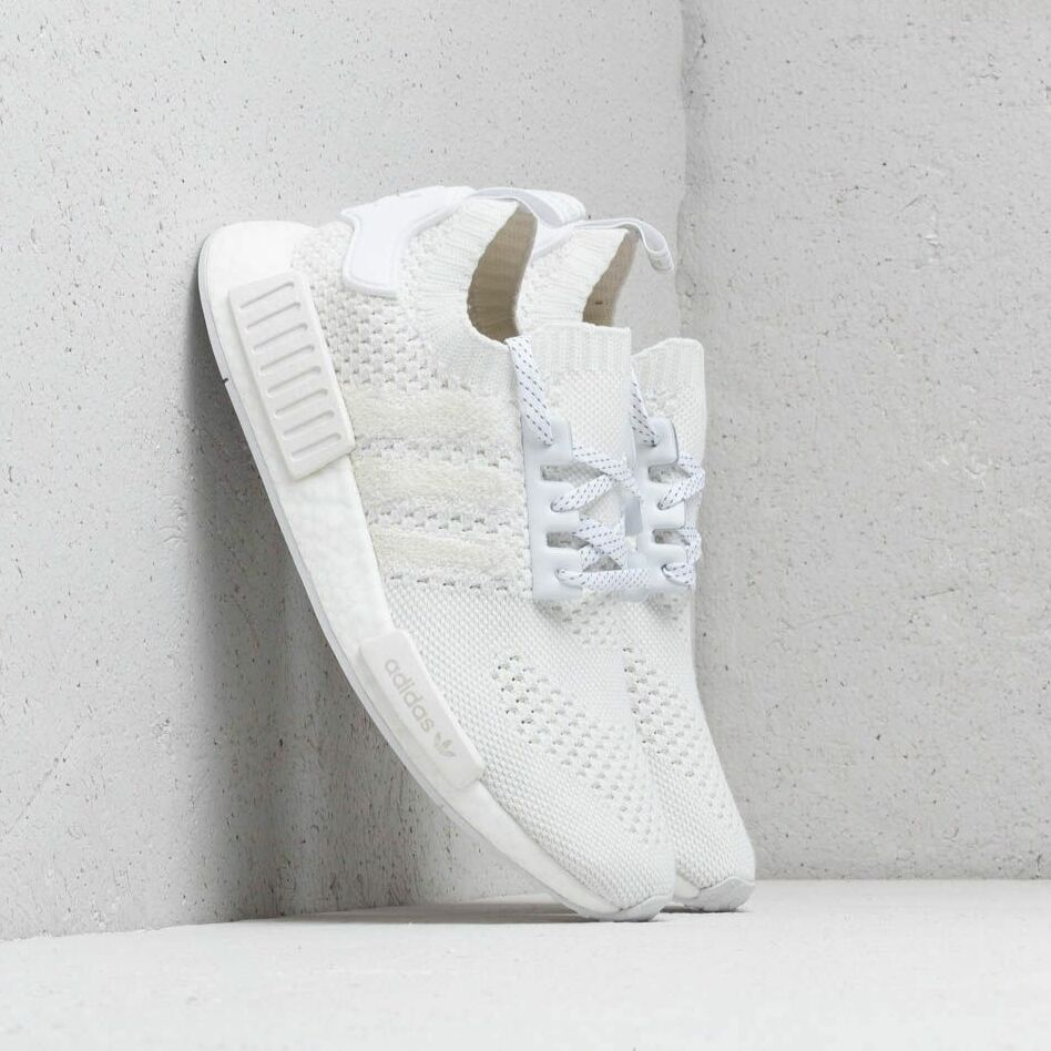 adidas NMD_R1 Primeknit Ftw White/ Ftw White/ Linen Green