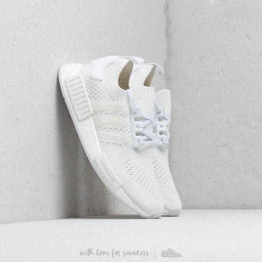 Men S Shoes Adidas Nmd R1 Primeknit Ftw White Ftw White Linen Green